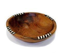 Hand carved Olive Wood Bowl - Made in Kenya - fair trade