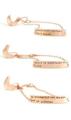 Fortune cookie bracelets! Awesome!