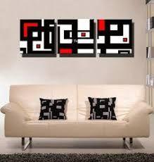 Resultado de imagen para decoracion cuadros modernos rojo blanco negro plateado