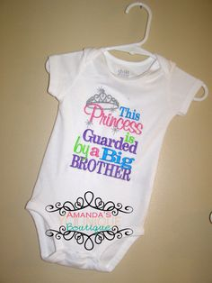 This Princess is Guarded by a Big Brother by AYBoutique on Etsy