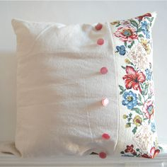 linens and buttons  DEB: This could go with anything in a bedroom. Although I…