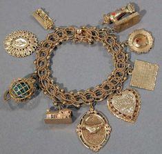 Gold Charm Bracelet - the actual bracelet is quite beautiful