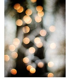 Abstract Photography - lights wall art sparkle print black white gold orange dark brown circle picture modern, 8x10 Photograph, Glimmer