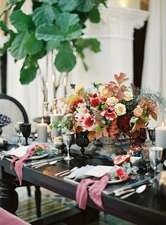Elegant Tablescape | Rich and Moody Berry Wedding Inspiration from Sposto Photography