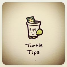 Could make into frappucino Small Turtles, Tiny Turtle, Cute Turtles, Turtle Love, Baby Turtles, Cute Turtle Drawings, Cute Animal Drawings, Cute Drawings, Small Drawings