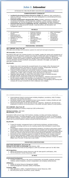 Office Assistant Resume Sample Job Seeking Pinterest Office - hr generalist resume examples