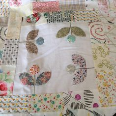 One of the blocks in the Bordered Garden Mini Quilt, where I've put lots of them…