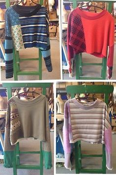 **refasioned sweaters** We will be soon introducing a new thing… lookwhatwedidtoday Mini Flash Sales of very one off pieces that we just make up as we go alon...