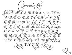 Jean de Beauchesne master Penman A French Huguenot Refugee in London mid Published copy books Calligraphy Letters Alphabet, Calligraphy Handwriting, Typography Letters, Typography Logo, Cursive, Penmanship, Graffiti Lettering Fonts, Tattoo Lettering Fonts, Doodle Lettering