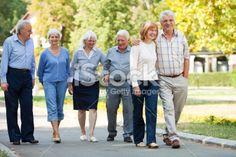 Group of senior people in park Lizenzfreies Foto