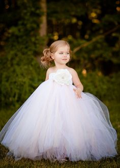 Exactly As Picture 2y-8y White Mix Ivory Floor-Length Flower Girl Tutu Dress For Wedding/Birthday Party US $16.89 - 23.89