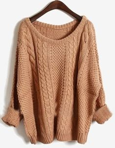 cute chunky sweater for fall