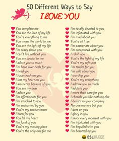 Beautifully Romantic Ways To Say I LOVE YOU ! ESLBuzz Learning English is part of Beautiful words in english - Learn many different ways to say I LOVE YOU in English with pictures English Idioms, English Vocabulary Words, English Phrases, Learn English Words, English Lessons, English English, English Grammar, English Tips, English Study