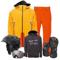Mens Snow Style - Orange www.larryadler.com