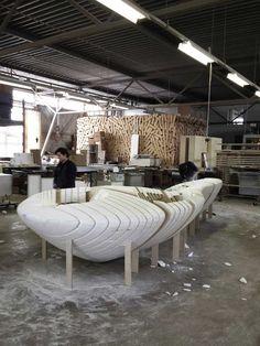 Project Drents Museum in Assen Corian, B & B, Museum, Table, Furniture, Design, Home Decor, B&b Italia, Homemade Home Decor