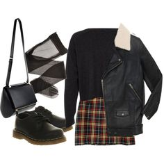 """90's School Girl Grunge"" by meiyeeszeto on Polyvore"