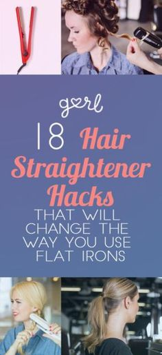 18 Hair Straightener Tricks That Will Change The Way You Use A Flat Irons #Hair