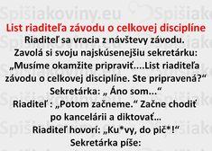 List riaditeľa závodu o celkovej disciplíne - Spišiakoviny.eu