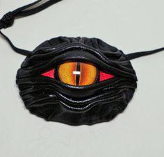 Dragon eye eye patch black leather. Rainbow eye by LeasBoutique