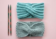 Free knitting instructions: headband with twist Free knitting instructions . - Free knitting instructions: headband with twist Free knitting instructions: headband with - Knitting Stitches, Knitting Patterns Free, Free Knitting, Baby Knitting, Crochet Baby, Crochet Bikini, Knit Crochet, Crochet Patterns, Needlepoint Stitches