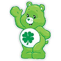 Walls 360 Peel & Stick Fabric Wall Decals: Care Bears Goodluck Bear Wave (8.5 in x 12 in)