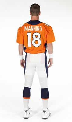 Peyton Manning in Broncos blue and orange...will take some getting used to.