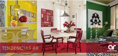 Tres tendencias de color que te gustaría tener en casa. La Habitación verde inspira tranquilidad y salud. La cocina amarilla mejora al metabolismo, da luz y brinda energía. Y el comedor rojo sirve para fomentar el apetito #TendenciasAR