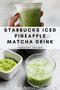 How to make starbucks iced pineapple matcha drink at home. This recipe is easy to make, so you can enjoy starbucks recipes at home. how to make a matcha latte with coconut milk. Smoothie Bowl, Matcha Smoothie, Green Tea Smoothie, Healthy Starbucks Drinks, Yummy Drinks, Healthy Drinks, Stay Healthy, Healthy Weight, Matcha Drink