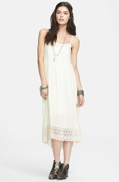 Free People Crochet Hem Slipdress available at #Nordstrom