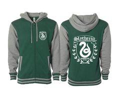 Slytherin Quidditch Letterman Varsity Jacket Harry Potter Inspired - Hogwarts Tumblr Pinterest Clothing Size S M L XL XXL