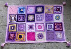 Crochet squer crazy - for baby Blanket, Crochet, Handmade, Baby, Hand Made, Ganchillo, Blankets, Baby Humor, Cover