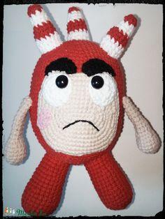 Meska - Oddbods figura -Fuse -horgolt amigurumi Galagonyatanya kézművestől Party Time, Hello Kitty, Crochet, Fictional Characters, Amigurumi, Weaving, Tejidos, Hipster Stuff, Chrochet