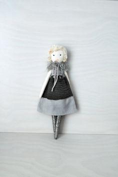 Cloth doll Rag doll handmade retro one of a by lespetitesmainsS, $120.00