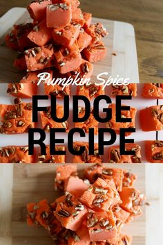Pumpkin Spice Fudge Recipe | Slow Cooker Fudge