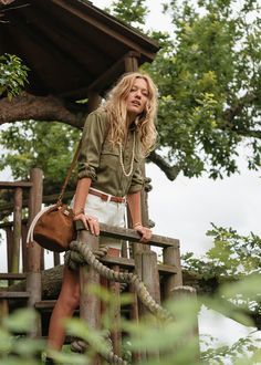 Image result for sezane khaki top tom
