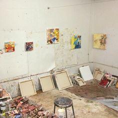 Inside the artist's studio of Boston based artist Brigid Watson