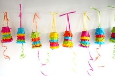 Mini pinatas from toilet paper rolls - perfect Cinco de Mayo craft kid toddler easy favor birthday