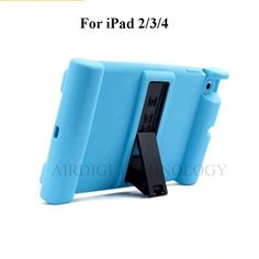 High Quality Shockproof Soft Silicone Protective Drop Proof Stand Case For Apple iPad 2 3 4 - 10 Colors