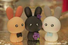 conejo y el conejito Topper de la tortapara la pareja por kikuike