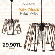 Deko Home Deko Otantik halatlı avize sadece 29,90TL! #dekorazoncom >> http://www.dekorazon.com/deko-home-deko-otantik-halatli-avize?utm_source=pinterest&utm_medium=post&utm_campaign=deko-home-deko-otantik-halatli-avize