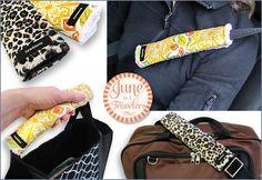 June is 4 Travelers: Seat Belt & Bag Handle Cover | Sew4Home