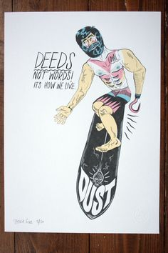 Stevie Gee — DEEDS limited edition art-print
