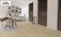 Parquet contrecollé CHATEAU, chêne blanchi, verni, larg 16,4 cm - Parquet Bois - Collection Sol - Saint Maclou