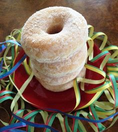 Something playful; a doughnut tower!