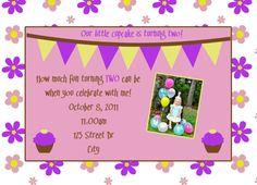 Cupcake Theme Birthday Printable Set