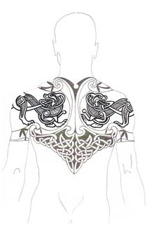 I'd prefer my man without tattoos, but if he insists on having one, then go Celtic warrior or go home. -cj You are in the right place about secret Tattoo Placement Here we offer you the most beautiful Norse Mythology Tattoo, Norse Tattoo, Armor Tattoo, Tattoo Lower Back, Back Tattoo, Tattoo Drawings, Body Art Tattoos, Sleeve Tattoos, 3d Tattoos