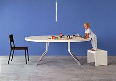 Mesa extensible redonda moderna - OOPS by Monica Graffeo