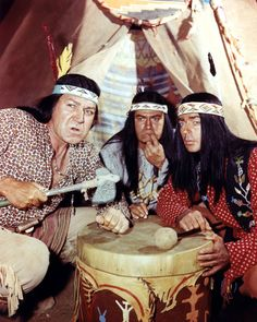Forrest Tucker, Larry Storch, and Ken Berry of F Troop