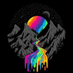 Conceptual Art by Grant Shepley Psychedelic Drawings, Trippy Drawings, Cool Art Drawings, Pop Art Wallpaper, Trippy Wallpaper, Galaxy Wallpaper, Cool Black Wallpaper, Screen Wallpaper, Wallpaper Quotes