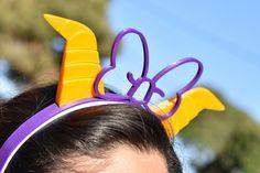 One Little Spark Figment Purple Dragon Horns Dragon Horns, Meet The Robinson, Ribbon Headbands, Bowler Hat, Purple Ribbon, Mickey Ears, Super Cute, 3d, Trending Outfits